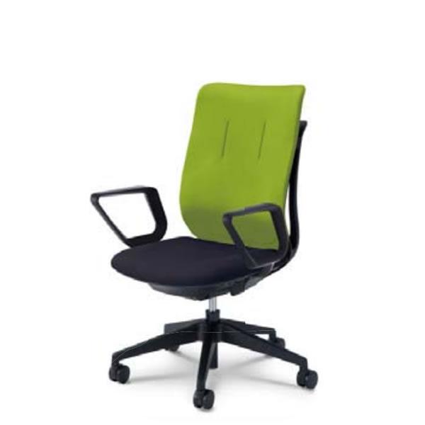 内田洋行 オフィスチェア 事務用チェア 事務椅子 エージェイ チェア リング肘 背クロスタイプ ツートンタイプ 座ブラック AJA-330BT