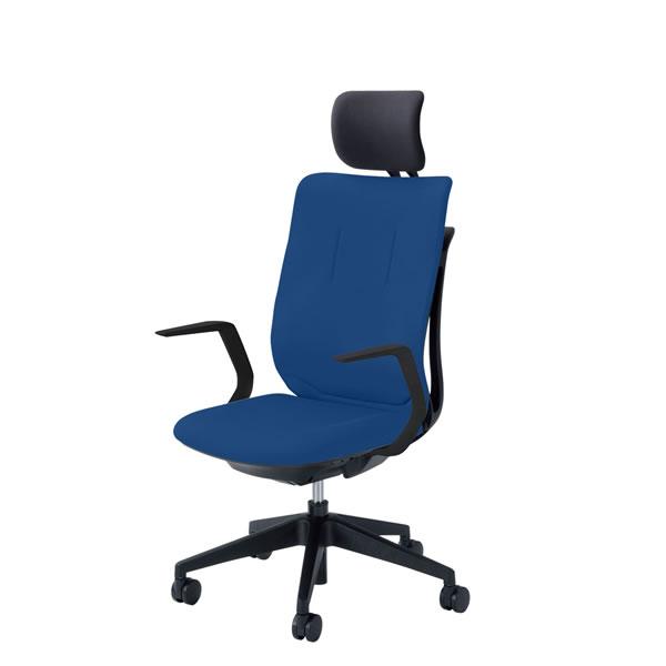 内田洋行 オフィスチェア 事務用チェア 事務椅子 エージェイ チェア L型肘 背クロスタイプ ヘッドレスト付 単色タイプ AJA-510BS
