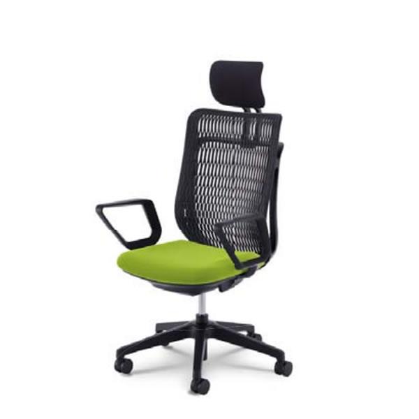 内田洋行 オフィスチェア 事務用チェア 事務椅子 エージェイ チェア リング肘 ヌードタイプ ヘッドレスト付 AJA-530BN
