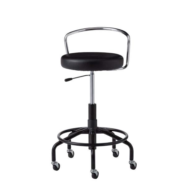 作業用チェア作業椅子作業用椅子高作業用スツールCA型塗装脚MVビニールレザー張りガス上下調節CA-BT7