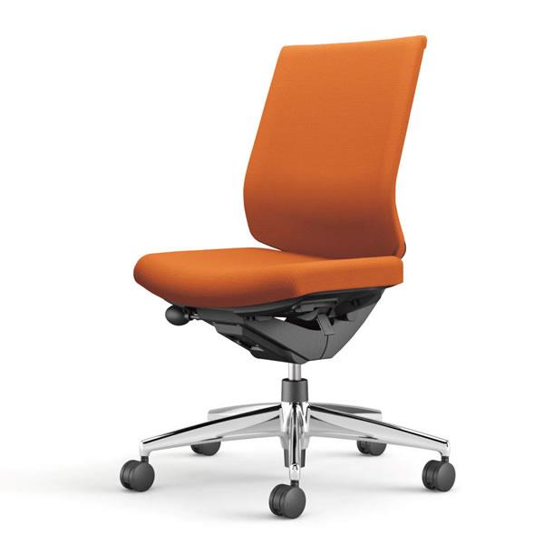 コクヨ 事務椅子 オフィスチェア ウィザード3チェアー アルミポリッシュ脚 ローバック 肘なし 布張り CR-A3620