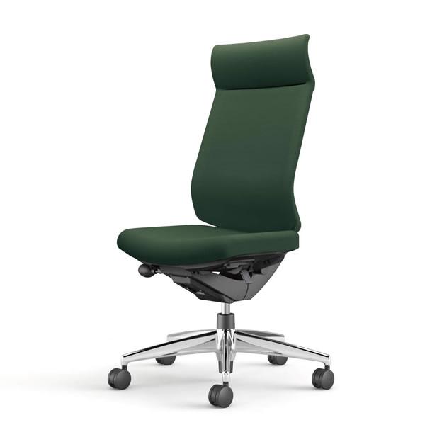 コクヨ 事務椅子 オフィスチェア ウィザード3チェアー アルミポリッシュ脚 ミドルマネージメント 肘なし 布張り CR-A3624