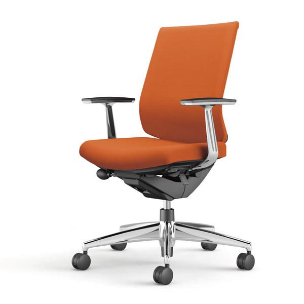 コクヨ 事務椅子 オフィスチェア ウィザード3チェアー アルミポリッシュ脚 ローバック アルミ肘 布張り CR-A3661