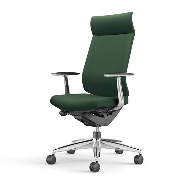 コクヨ 事務椅子 オフィスチェア ウィザード3チェアー アルミポリッシュ脚 ミドルマネージメント アルミ肘 布張り CR-A3665