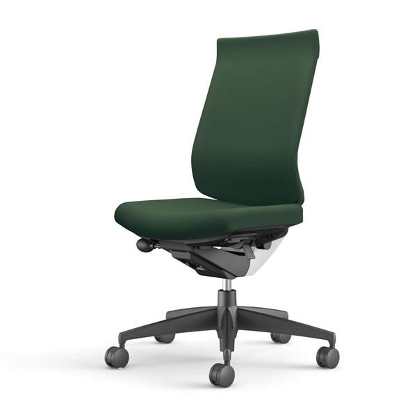 コクヨ 事務椅子 オフィスチェア ウィザード3チェアー ブラック樹脂脚 ハイバック 肘なし 布張り CR-G3622