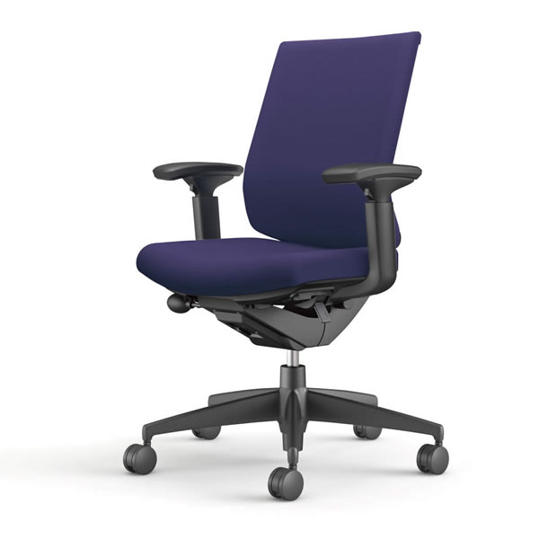 コクヨ 事務椅子 オフィスチェア ウィザード3チェアー ブラック樹脂脚 ローバック 可動肘 布張り CR-G3631