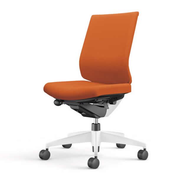 コクヨ 事務椅子 オフィスチェア ウィザード3チェアー ホワイト樹脂脚ホワイトシェル ローバック 肘なし 布張り CR-W3620