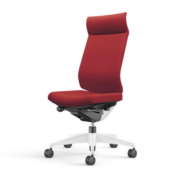 コクヨ 事務椅子 オフィスチェア ウィザード3チェアー ホワイト樹脂脚ホワイトシェル ミドルマネージメント 肘なし 布張り CR-W3624