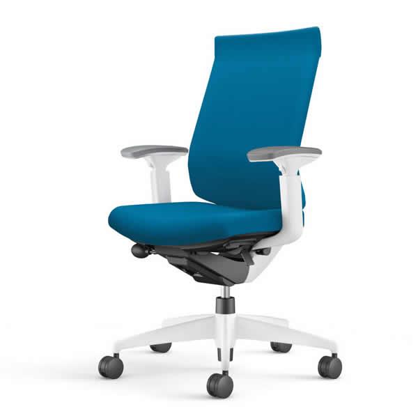 コクヨ 事務椅子 オフィスチェア ウィザード3チェアー ホワイト樹脂脚ホワイトシェル ハイバック 可動肘 布張り CR-W3633