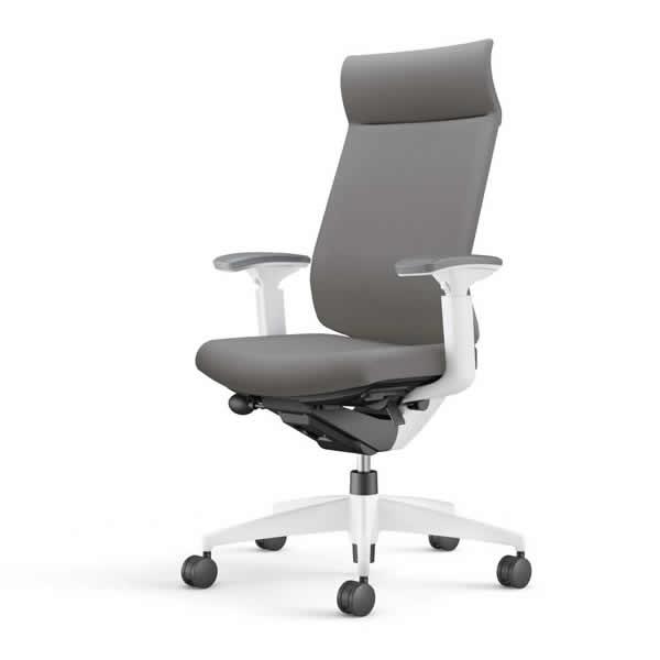 コクヨ 事務椅子 オフィスチェア ウィザード3チェアー ホワイト樹脂脚ホワイトシェル ミドルマネージメント 可動肘 布張り CR-W3635