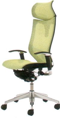 オカムラ バロン チェア エクストラハイバック 可動ヘッドレスト アジャストアーム ポリッシュフレーム座メッシュCP81AS