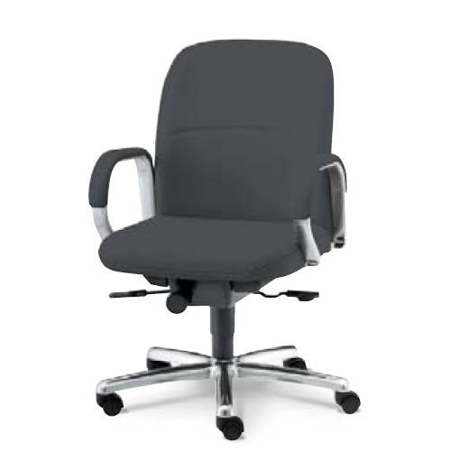 内田洋行 オフィスチェア 事務用 社長椅子 高級チェア プレジデントチェアー EX-200シリーズ チェア ローバック オープン肘付 レザー張り EX-205L