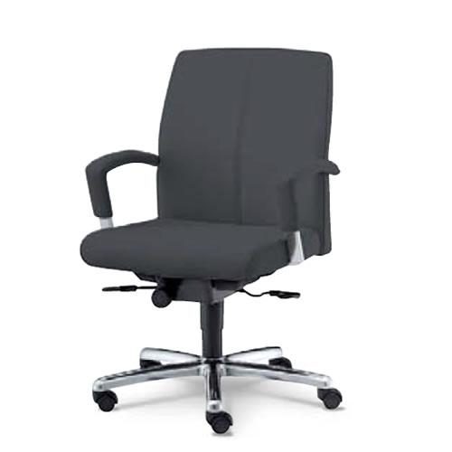 内田洋行 オフィスチェア 事務用 社長椅子 高級チェア プレジデントチェアー EX-300シリーズ チェア ローバック オープン肘付 レザー張り EX-305L