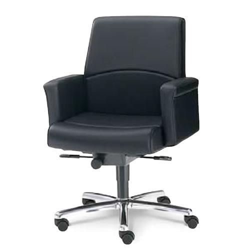 内田洋行 オフィスチェア 事務用 社長椅子 高級チェア プレジデントチェアー EX-500シリーズ チェア ローバック クロス肘コラーゲン入りレザ張り EX-505L
