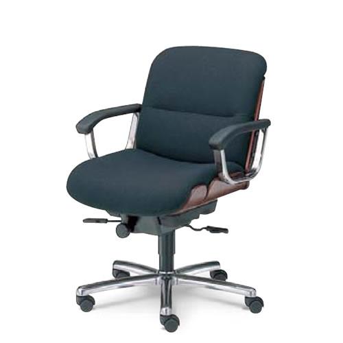 内田洋行 オフィスチェア 事務用 社長椅子 高級チェア プレジデントチェアー EX-600シリーズ チェア ローバック 肘付背ローズウッド色タイプ EX-620