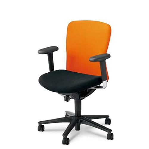 内田洋行 オフィスチェア 事務用イス 事務椅子 ルディオ チェア ハーフカバータイプ ミドルバック 可動肘 LA2-120C(125C)