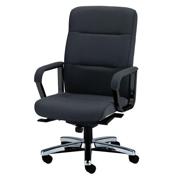 ハイバックチェアー ハイバック 社長椅子 ハイバックチェア 布張り メッキ仕上脚NOTKW-8