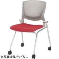 オカムラ ミーティングチェア 椅子 会議チェア グラータ 肘なし キャスター脚 グレーシェル背パッド付布張り 8142JS