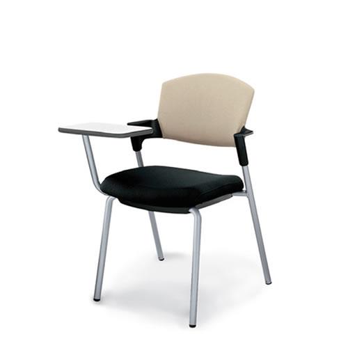 コクヨ メモ台付きチェア テーブル付き椅子 イス プロッティ 固定脚タイプ総張りタイプ(背座同色) CK-598
