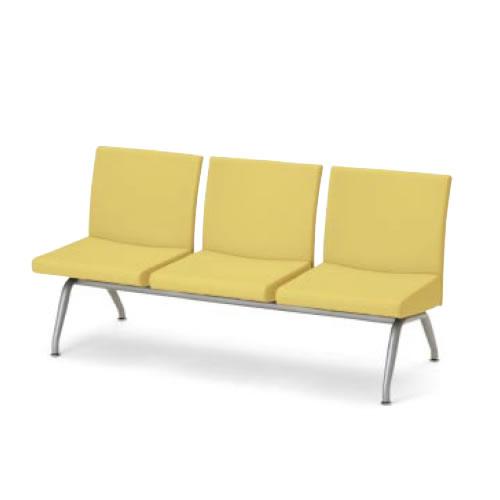 コクヨ ロビーチェア 長椅子 コレッティ シリーズ3人掛けアームレスチェア CN-423
