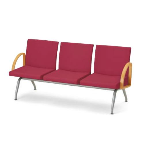 コクヨ ロビーチェア 長椅子 コレッティ シリーズ3人掛けアームチェア CN-423A