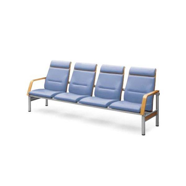 コクヨ ロビーチェア 長椅子 480シリーズ ハイバック 4人掛けアームチェアー CN-484H