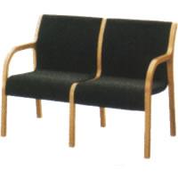 コクヨ ロビーチェア 400シリーズ 椅子 アームチェア2連 CN-W402A
