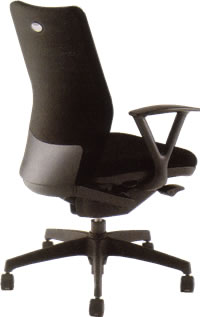 ナイキ オフィスチェアー オフィスチェア 椅子 シェルモ チェアー ハイバック 肘付布張り WE513F