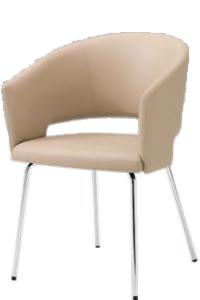 オカムラ ミーティングチェア 椅子 会議チェア 4本脚張りぐるみバックビュータイプ布張り 8146FF-F