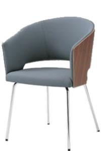 オカムラ ミーティングチェア 椅子 会議チェア 4本脚突板バックビュータイプ布張り 8146FT-F