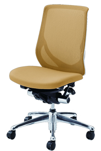 Okamura Office Chair Zephyr chair chair chair white frame mesh type elbow without