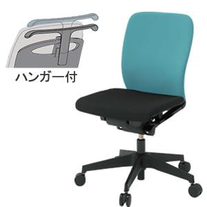 イトーキ フルゴ オフィスチェア ローバック 本体カラー T1ブラック 肘なし 布張り ハンガー付KF-440GBHT1