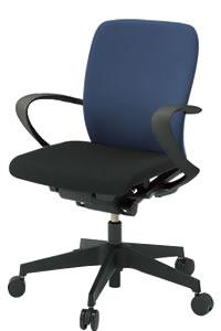 イトーキ フルゴ オフィスチェア ローバック 本体カラー T1ブラック ループ肘付 布張りKF446GBT1