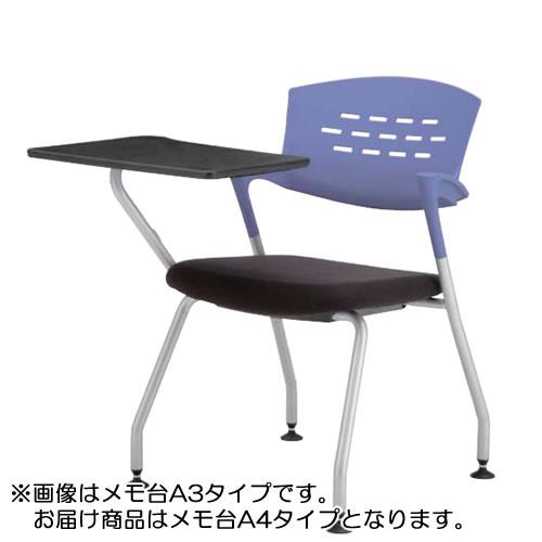 メモ台付きチェア テーブル付き椅子 イス クピット固定脚QPC-310T4