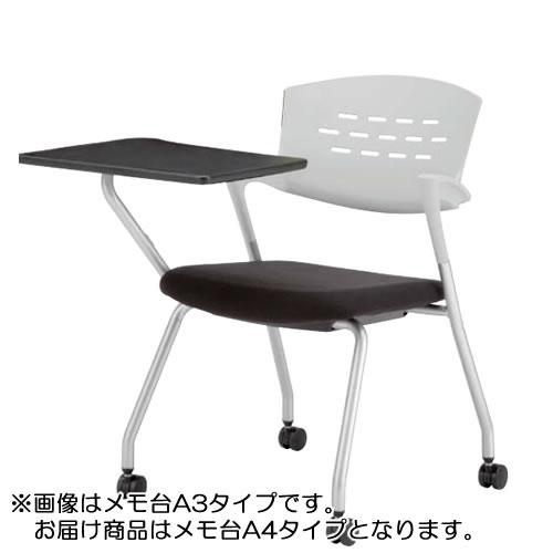 メモ台付きチェア テーブル付き椅子 イス クピットキャスター脚QPC-320T4
