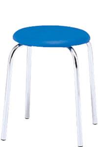 丸イス 丸椅子 パイプ ブロー成型 スツール 丸いす 6脚セットNOR-303C