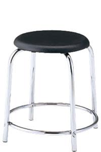 丸イス 丸椅子 パイプ ブロー成型 スツール 丸いす リング補強付 6脚セットNOR-40C-H420