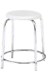 丸イス 丸椅子 パイプ ブロー成型 スツール 丸いす リング補強付 6脚セットNOR-41C-H460