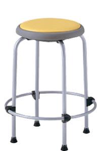 丸イス 丸椅子 パイプ 座固定 スツール 丸いす 布張り 4脚セットNOR-460C