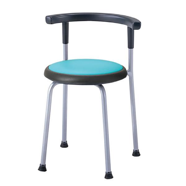 丸イス 丸椅子 パイプ 座固定 スツール 丸いす 背付 2脚セットNOR-530L