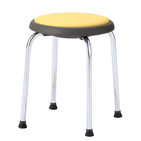 丸イス 丸椅子 パイプ 座回転式 スツール 丸いす ビニールレザー張り 5脚セットNOR-770L
