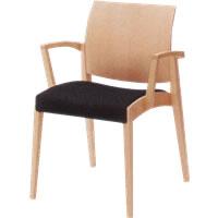 オカムラ 椅子 木製 セロー ライトカラーフレーム 8149WA
