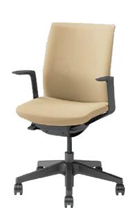オカムラ オムネス チェア ブラックシェル 背パッド付 デザインアーム ブラック樹脂脚 ウレタン双輪 C545BR