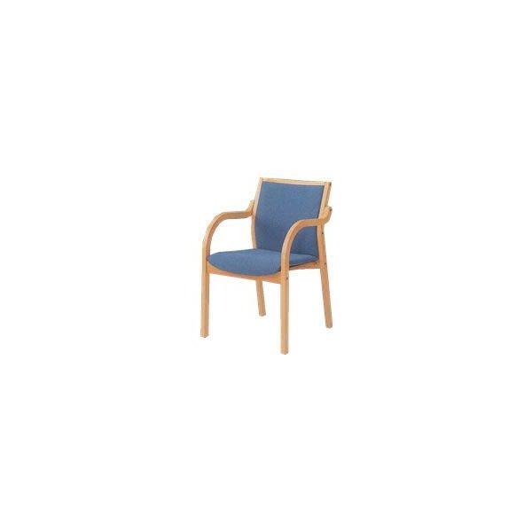 オカムラ 椅子 木製 布張り オカムラL112FA