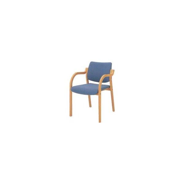 オカムラ 椅子 木製 ビニールレザー L112SA-P