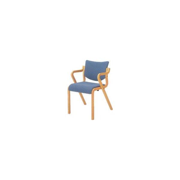 オカムラ 椅子 木製 ビニールレザー L112SX-P