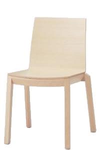 オカムラ 椅子 木製 アルタ 肘なし 4本脚ナチュラルフレーム合板張り L688ZZ-WA38