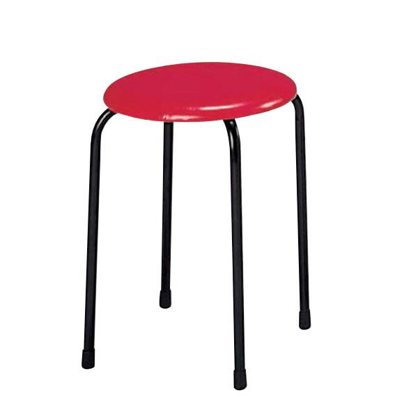 丸イス 丸椅子 パイプ スツール 丸いす 10脚セットNOS-20A