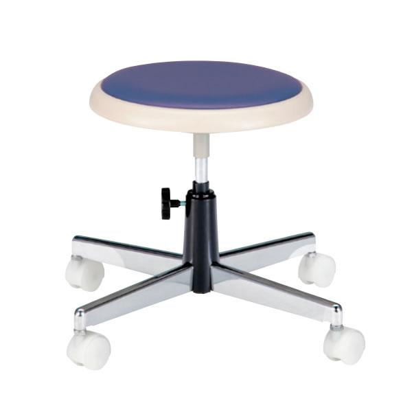 作業用チェア 作業椅子 作業用椅子 クッションパッド付 座回転椅子 キャスター付き 手動上下調節TCC-13N