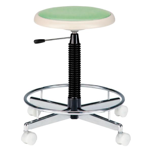 高作業用チェア 作業椅子 作業用椅子 クッションパッド付 座回転椅子 キャスター付き ガス上下調節TCC-15LN